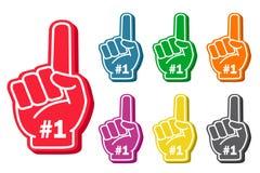 Grupo do dedo da espuma Foto de Stock Royalty Free