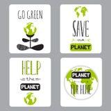 Grupo do Dia da Terra de cartões Foto de Stock