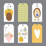 Grupo do dia de mães de etiquetas Fotografia de Stock Royalty Free