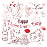 Grupo do dia de Valentim Foto de Stock Royalty Free