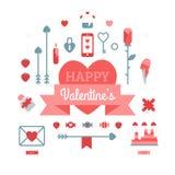 Grupo do dia de Valentim feliz ilustração do vetor