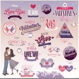 Grupo do dia do ` s do Valentim Foto de Stock Royalty Free