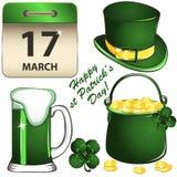 Grupo do dia do St Patricks Fotos de Stock