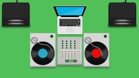 Grupo do DJ Ilustração do Vetor