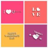 Grupo do emblema do dia de Valentim Foto de Stock Royalty Free