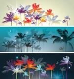 Grupo do encabeçamento das palmeiras ilustração royalty free