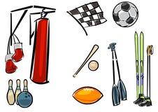 Grupo do equipamento de esporte Imagem de Stock Royalty Free