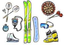 Grupo do equipamento de esporte Foto de Stock