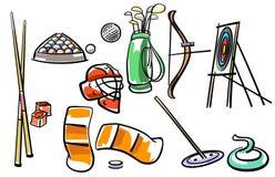 Grupo do equipamento de esporte Imagens de Stock