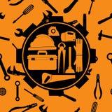 Grupo do equipamento do encanamento Ferramenta Símbolo Ilustração do vetor Imagem de Stock Royalty Free