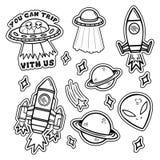 Grupo do espaço ilustração royalty free