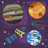 Grupo do espaço ilustração do vetor
