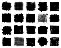 Grupo do estilo do Grunge de formas quadradas Vetor ilustração stock