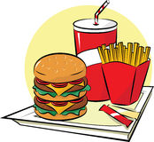 Grupo do fast food Imagens de Stock Royalty Free