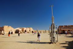 Grupo do filme de Star Wars, Tunísia Imagem de Stock