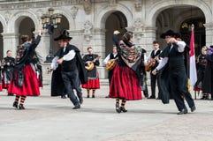 Grupo do flamenco Fotografia de Stock