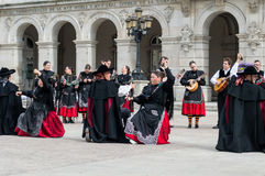 Grupo do flamenco Fotos de Stock Royalty Free