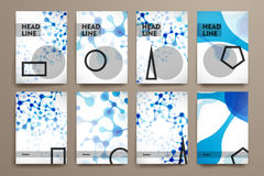Grupo do folheto, moldes do projeto do cartaz no ADN Imagem de Stock Royalty Free