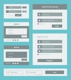 Grupo do formulário da interface de utilizador ilustração stock
