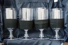 Grupo do frasco de vidro Imagem de Stock Royalty Free