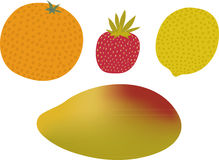 Grupo do fruto Imagens de Stock Royalty Free