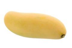 Grupo do fruto amarelo doce da manga isolado no fundo branco foto de stock royalty free