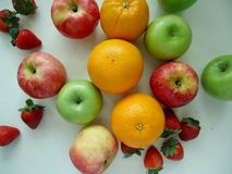 Grupo do fruto de maçã e de laranja foto de stock royalty free