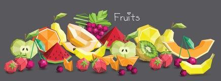 Grupo do fruto do polígono, ilustração Foto de Stock