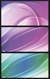 Grupo do fundo do vetor de linhas abstratas transparentes coloridas dentro Foto de Stock Royalty Free