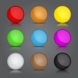 Grupo do fundo dos ícones do App. Ícones lustrosos do botão da Web. ilustração stock