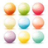 Grupo do gelado da colher Imagem de Stock