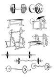 Grupo do Gym ilustração royalty free