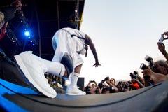 Grupo do hip-hop do inimigo público no concerto no festival FIB imagens de stock