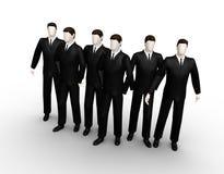 Grupo do homem de negócios seis Imagens de Stock Royalty Free
