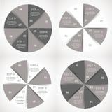 Grupo do infographics do círculo do vetor ilustração do vetor