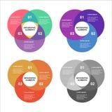 Grupo do infographics do círculo Molde para o diagrama, o gráfico, a apresentação e a carta Conceito do negócio com 4 opções, peç ilustração royalty free