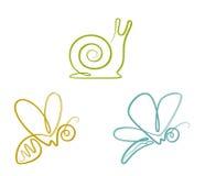 Grupo do inseto ilustração royalty free