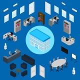 Grupo do interior do escritório Imagens de Stock Royalty Free