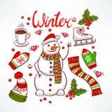Grupo do inverno ilustração stock