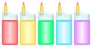 Grupo do isqueiro de gás ilustração stock