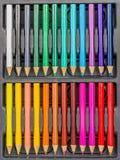Grupo do lápis da coloração Imagem de Stock