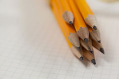 Grupo do lápis no livro Imagem de Stock Royalty Free