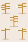 Grupo do letreiro Imagens de Stock