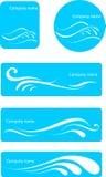 Grupo do logotipo da água ilustração stock