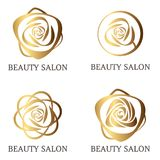 Grupo do logotipo da flor Fotografia de Stock