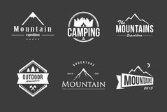 Grupo do logotipo da montanha Fotos de Stock Royalty Free