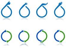 Grupo do logotipo das mãos Imagens de Stock