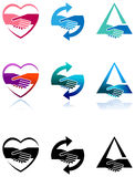 Grupo do logotipo do aperto de mão Fotos de Stock