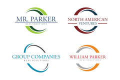 Grupo do logotipo do círculo Imagem de Stock Royalty Free
