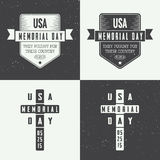 Grupo do logotipo do Memorial Day Imagens de Stock Royalty Free